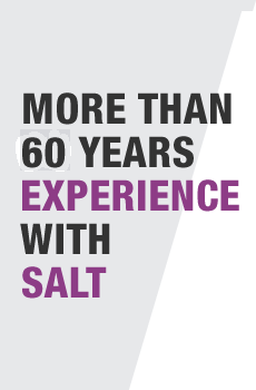 More than 60 years experience with salt